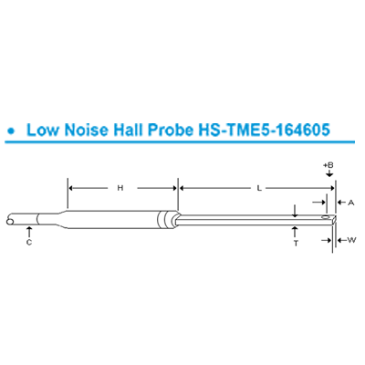 低雜訊高範圍霍爾探棒 Low Noise Hall Probes for FH54 and FH55